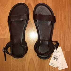 Abercrombie & Fitch Classic Leather Sandals Size S